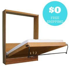 DIY Murphy Bed Hardware Kit with Free Shipping and Free Plans. Build your own Panel Bed Frame and Cabinet.