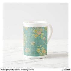 Vintage Spring Floral Tea Cup
