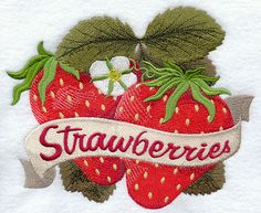 Ripe Strawberries design (D6069) from www.Emblibrary.com