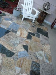 Granite Scrap Patio and Path - JUNKMARKET Style
