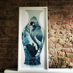 #NellyDuff #aida #vase #screenprint #ming #queen #china #bird #paradise