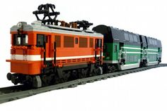 Electric Locomotive DB109 and Bi Level Carriage: A LEGO® creation by Fogtod the Engineer : MOCpages.com