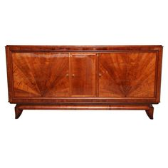 "Art Deco ""Sunburst"" Walnut Sideboard 
