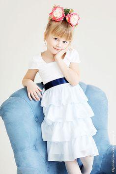 Blue нарядное платье. Handmade.