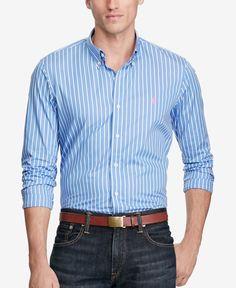 Polo Ralph Lauren Men's Striped Poplin Shirt