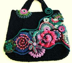 Crochet Handbags Freeform Tao — Freeform crochet that inspires me. Beau Crochet, Crochet Art, Love Crochet, Irish Crochet, Beautiful Crochet, Crochet Crafts, Crochet Projects, Crochet Tutorials, Crochet Handbags