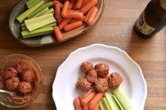 Gluten-free buffalo turkey meatballs. They look awful but taste amazing.