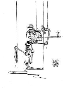 Skottie Young daily sketch Pinocchio