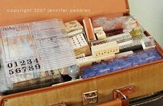 creative craft storage...suitcases are very easy to find and would look great too