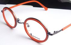 App.Round Eyeglass Frames Vintage Orange
