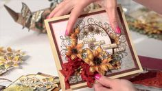 Heartfelt Creations Classic Sunflower Shaping and Stamping tecniques. #tutorial