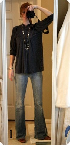 It's what I wore today? shirt: Old Navy, necklace: hmmm : maybe Target?, jeans: Seven {flare}, shoes: Nordstrom sweater: Gap, Fall Winter Outfits, Autumn Winter Fashion, Chic Outfits, Fashion Outfits, Fashion Ideas, Jones Design Company, Stitch Fix Stylist, Easy Wear, Mom Style
