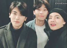 Park Seo-joon and Park Hyung-sik went to see BTS in concert at the Gocheok Sky Dome and posted a picture with BTS's 'V' actor Park Hyun-sik on his SNS. Park Ji Min, Joon Park, Witch's Romance, Kim Hyung, Park Hyung Sik Hwarang, Joon Hyung, Park Bo Gum, V Bts Wallpaper, W Two Worlds