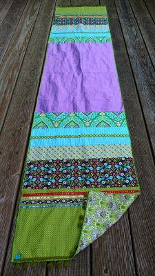 Schöner Schal aus Stoffresten!