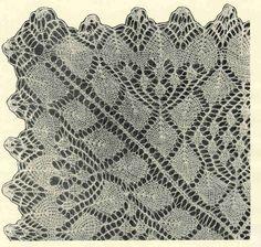 Скатерть 2 - модель Б. Э.Критеску 'Художественное вязание спицами'