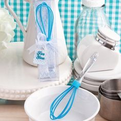 Something Borrowed Something Blue #Whisk Favors | Practical and useful kitchen themed favors