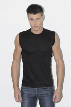 Ben Kaminsky - BLACK SLEEVELESS T-SHIRT, $28.00 (http://www.benkaminsky.com/black-sleeveless-t-shirt/)