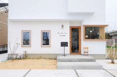 Home Decoration For Ganpati Code: 6927116420 Cafe Exterior, Interior Exterior, Exterior Design, Facade Design, Door Design, House Design, Shop Interior Design, Retail Design, Shop Facade