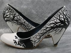 Drawn designs on shoes.  Not a tutorial, but Sharpies could be used to do the same thing.