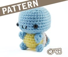 CROCHET PATTERN FOR WATER TURTLE    **PATTERN ONLY - NOT THE FINISHED PRODUCT**    PDF document with detailed instructions in english on how to create