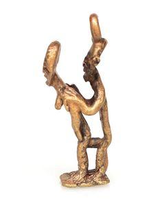 Asante Key chain/Pendant Erotic Weight #1440 | Erotic Weights | Metal — Deco Art Africa - Decorative African Art - Ethnic Tribal Art - Art D...