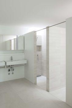 #bathroom at Weidterassen, Switzerland, with #TerraXXL collection http://www.mosa.nl/us/products/collection/terra-xxl/