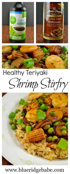 healthy teriyaki shrimp stirfry...all the flavor of takeout with a lot less calories!