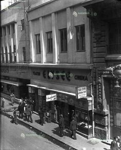 Bucuresti, str. Doamnei, 1932 Cinema Elysee Bucharest, Old City, Time Travel, Traveling, Cinema, Street View, Memories, Places, Viajes
