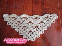 Puntada triangular de Abanicos | Blog a Crochet - ACrochet