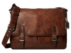 Frye Oliver Messenger Dark Brown Antique Pull Up - Zappos.com Free Shipping BOTH Ways