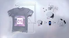 tshirtOS :: The world's first programmable t-shirt, via YouTube.