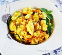 Dietetyczne risotto z cukinia i kurczakiem