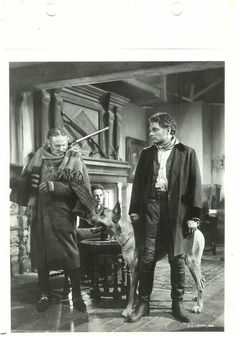 LAURENCE OLIVIER Great Dane Vintage 1939 WUTHERING HEIGHTS Linen Key Book Photo