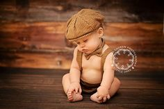 So PRECIOUS!  Melts my heart!  Arthur Newsboy Set  Diaper Cover Suspenders Bow by fourtinycousins