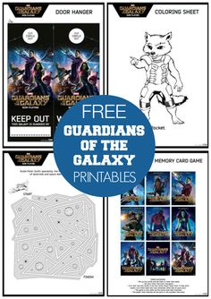 Free Guardians of the Galaxy Printable Games