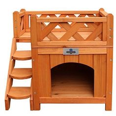 Confidence Pet Wooden Dog House / Kennel with Balcony | Dog Supplies - Warning: Save up to 87% on Dog Supplies and Dog Accessories at Our Online Pet Supply Shop #DogSupply