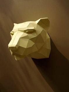 Trophy Leopard PRECUT The Big Five DIY faux by PaperwolfsShop