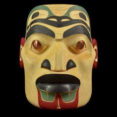 Portrait Mask by Jared Kane, Tlingit, Tutchone artist (XN120519)