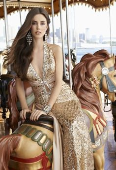 Prom Dresses 2013 - Long Halter Sequin Plunge Dress from Camille La Vie and Group USA