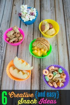 Healthy and Easy Snack Ideas for Kids - These simple, quick and creative ideas are great for school or home. (AD)