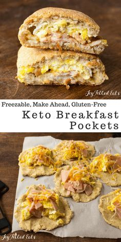 My Keto Breakfast Pockets will become your favorite grab-and-go breakfast! They are freezable so you can just pop one in the microwave before running out the door. You can easily customize them with your favorite breakfast meats and cheeses.
