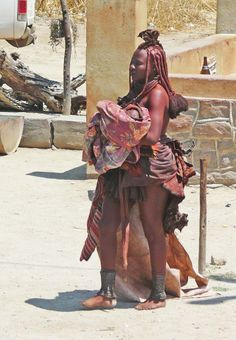 Himba woman. The Himba are indigenous peoples of about 20,000 to 50,000 people living in northern Namibia. Wiki.