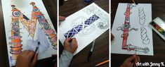 Celtic Knot initial art project for kids