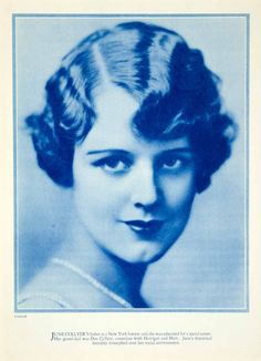 1928 Rotogravure June Collyer Silent Film Movie Actress Portrait Hollywood YPP3