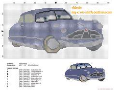 Doc Hudson Disney Cars character cross stitch pattern