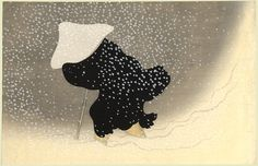 'Snow in the Countryside' 1909 - by Kamisaka Sekka, Japanese artist 1862-1942 - simply but stunning