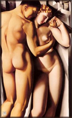 Adam and Eve, 1932			-Tamara de Lempicka - by style - Art Deco