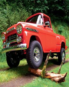 1959 Red Chevy Truck