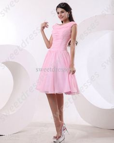 Light pink strapped bridesmaids dress