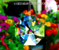 b8abaaea9 Swarovski Crystal 60mm Clear Lily Octagon Suncatcher Strass Logo Etched  GREAT RAINBOW MAKER on Clear Line Ready to Hang Lilli Heart Designs